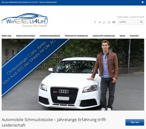 Screenshot New Webpage Wheels for Life AG