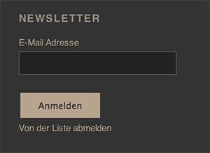 Anmeldungsfenster Newsletter